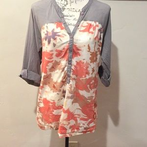 Anthropologie Odille Button Up Blouse